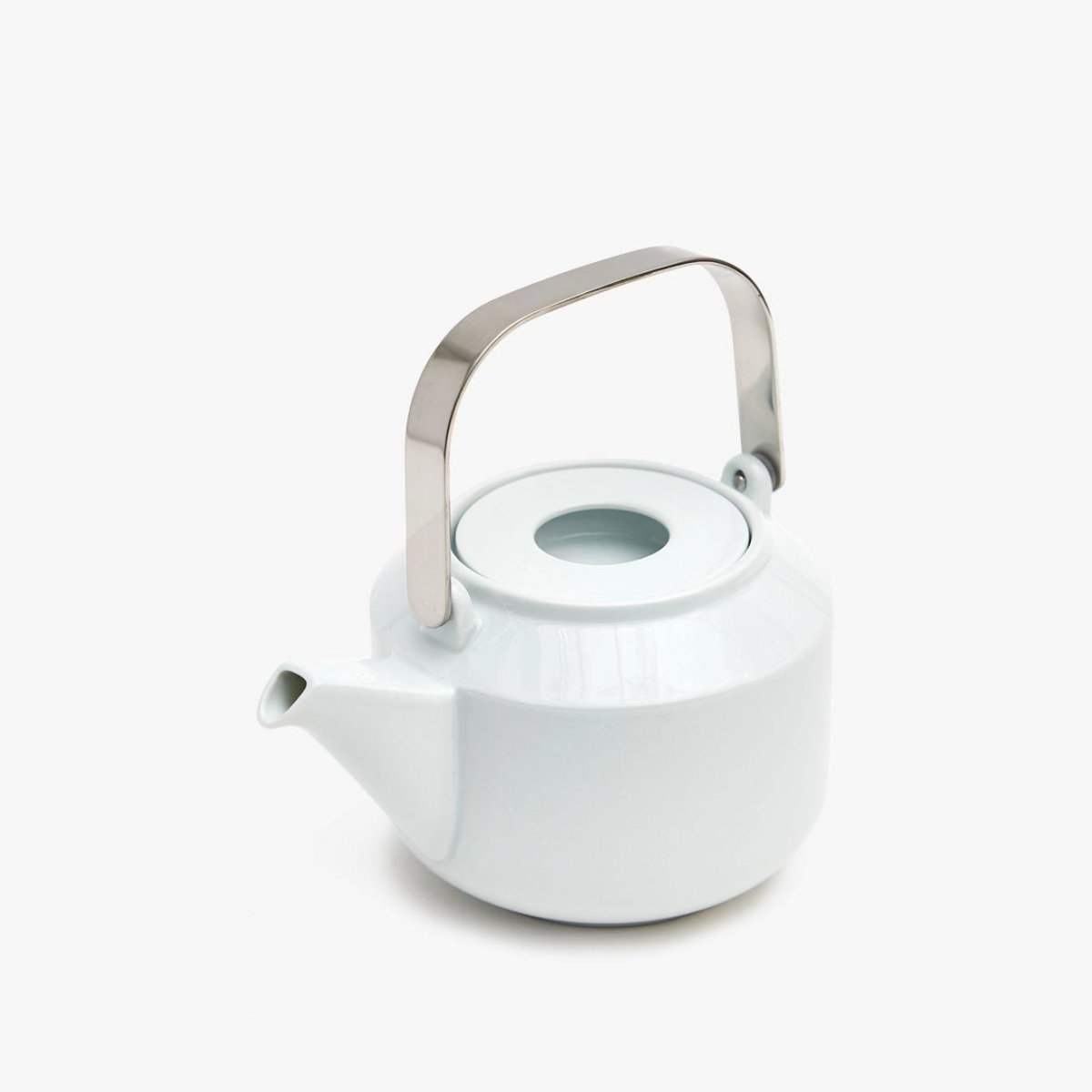 Leaves To Tea Teapot, white.