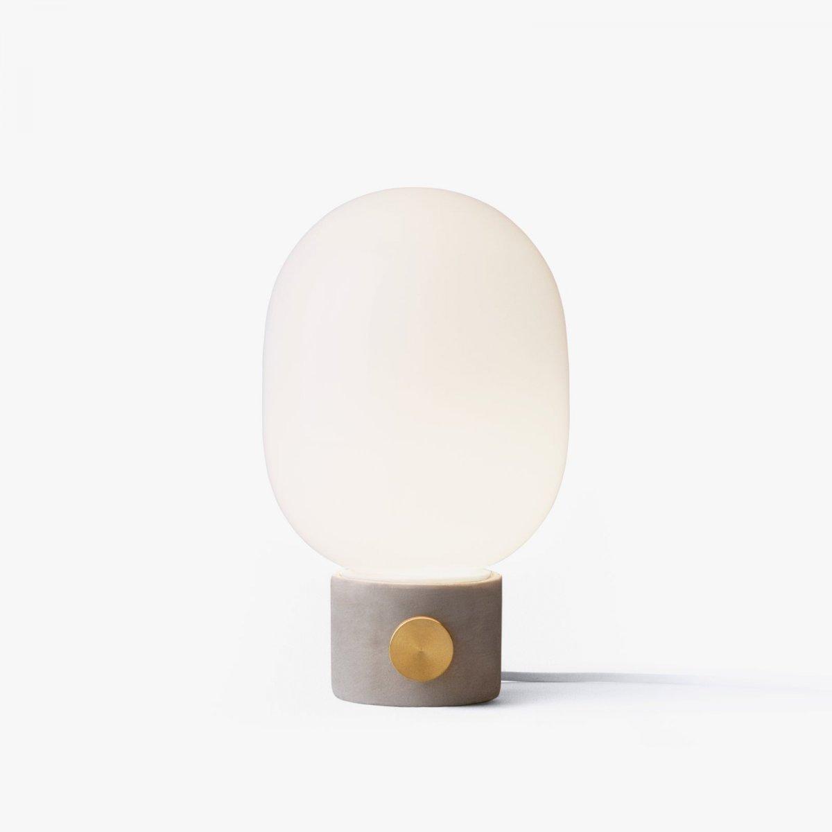 JWDA Concrete Lamp, lit.