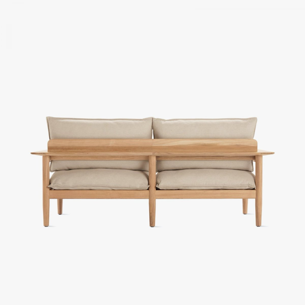 Terassi Two-Seater Sofa, papyrus, back view.