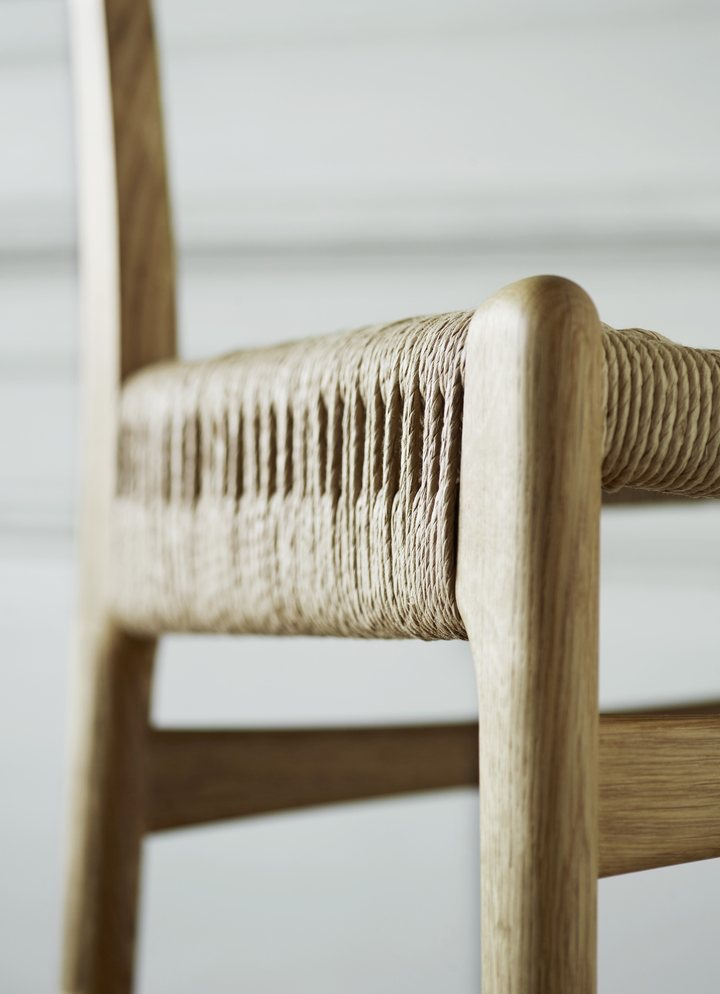 CH23 Chair, detail.