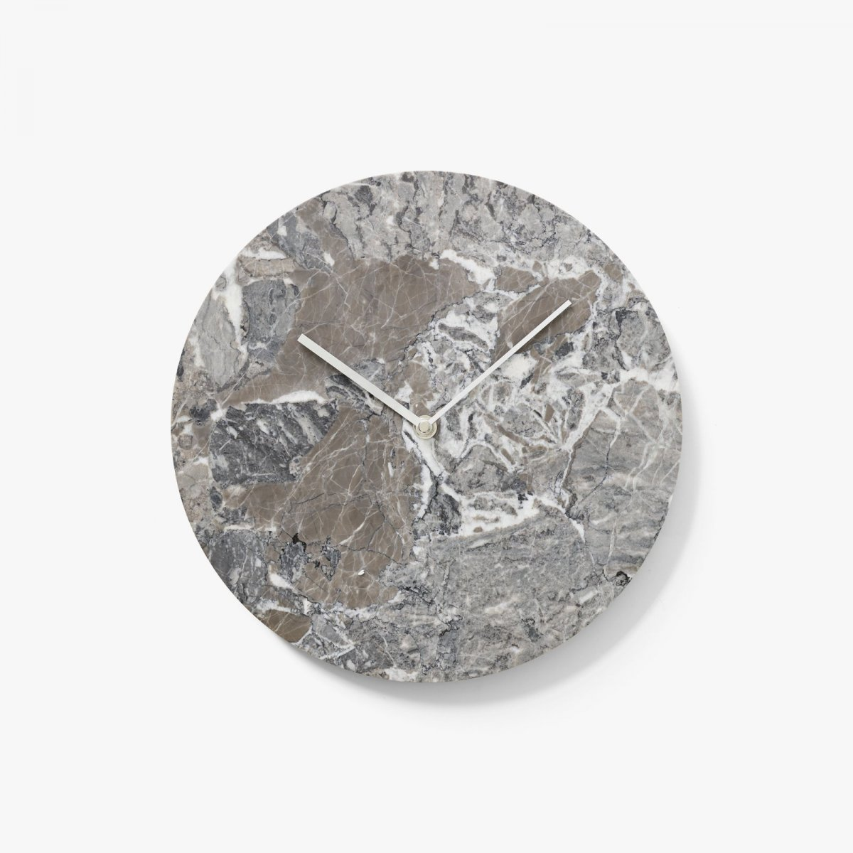Marble Wall Clock, gray.