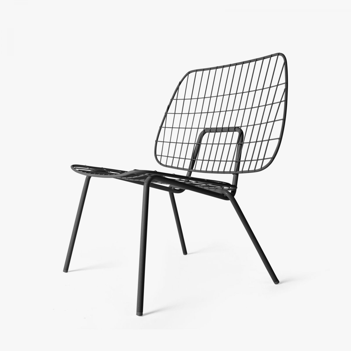 WM String Lounge Chair, black.