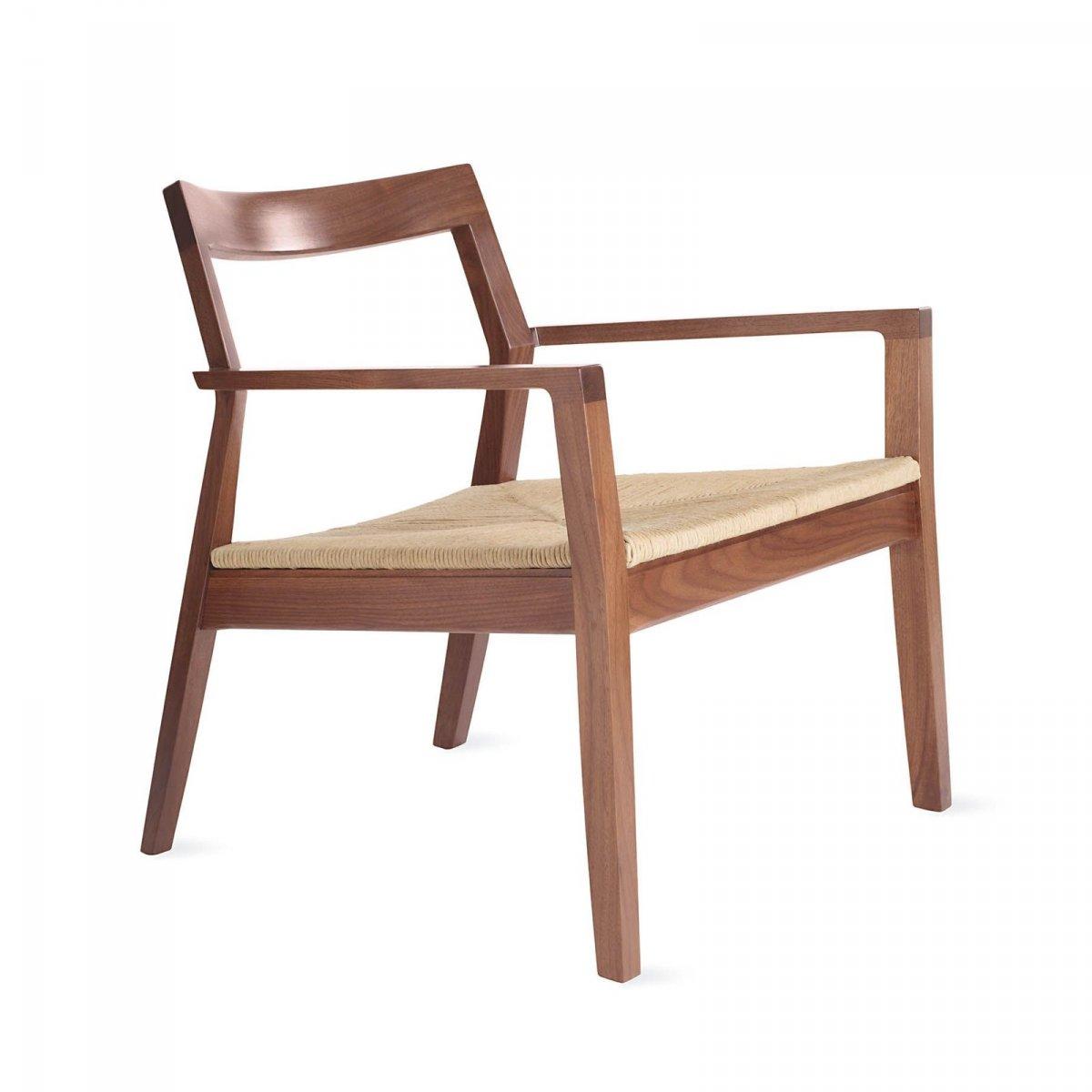Krusin Lounge Arm Chair, walnut.