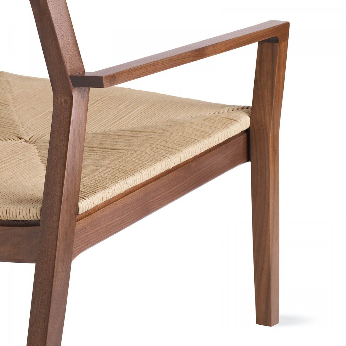 Krusin Lounge Arm Chair, walnut, detail.