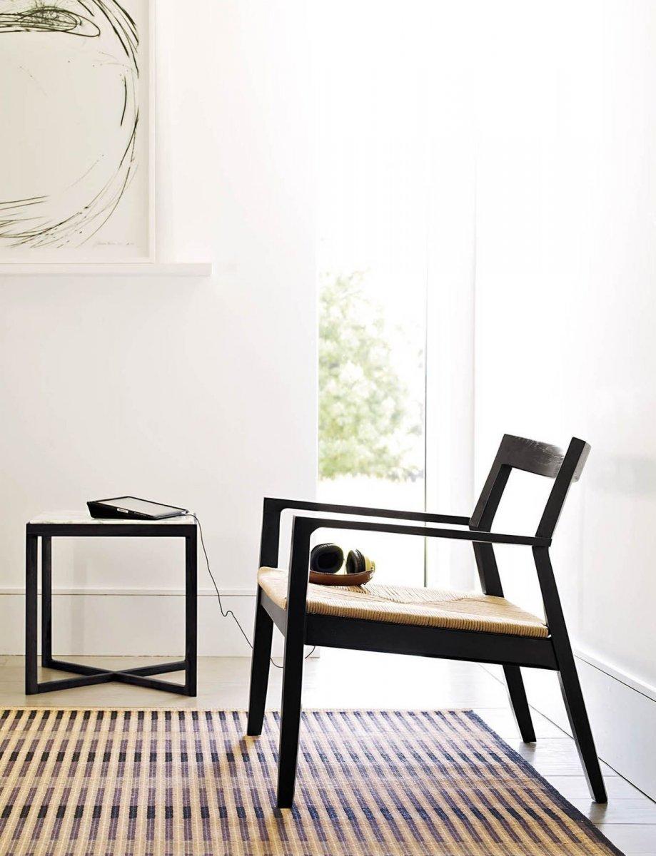 Krusin Lounge Arm Chair, ebonized oak.