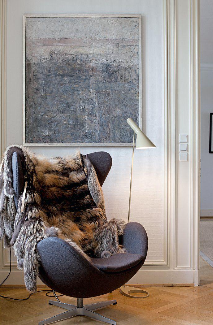 AJ Floor lamp, white.