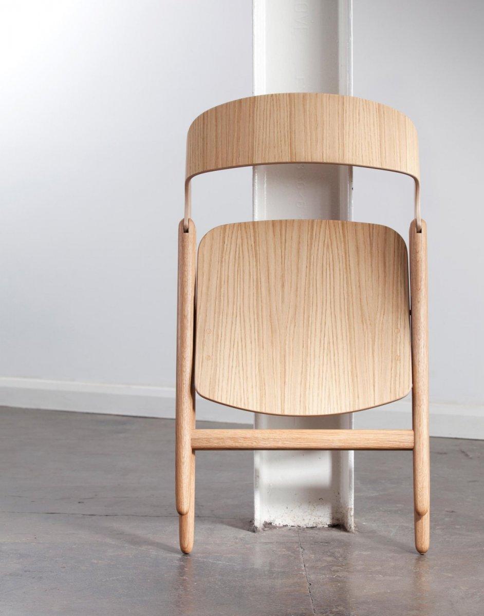 Narin Folding Chair, folded.