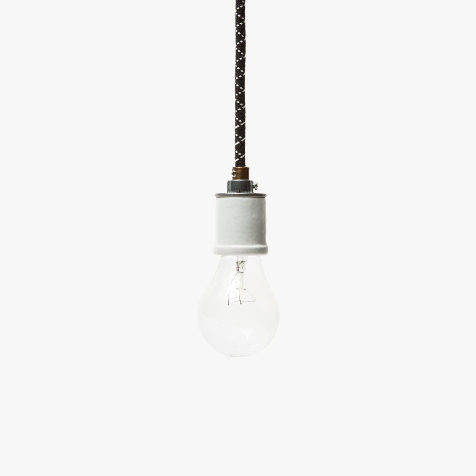 The Portland Pendant, black and white.
