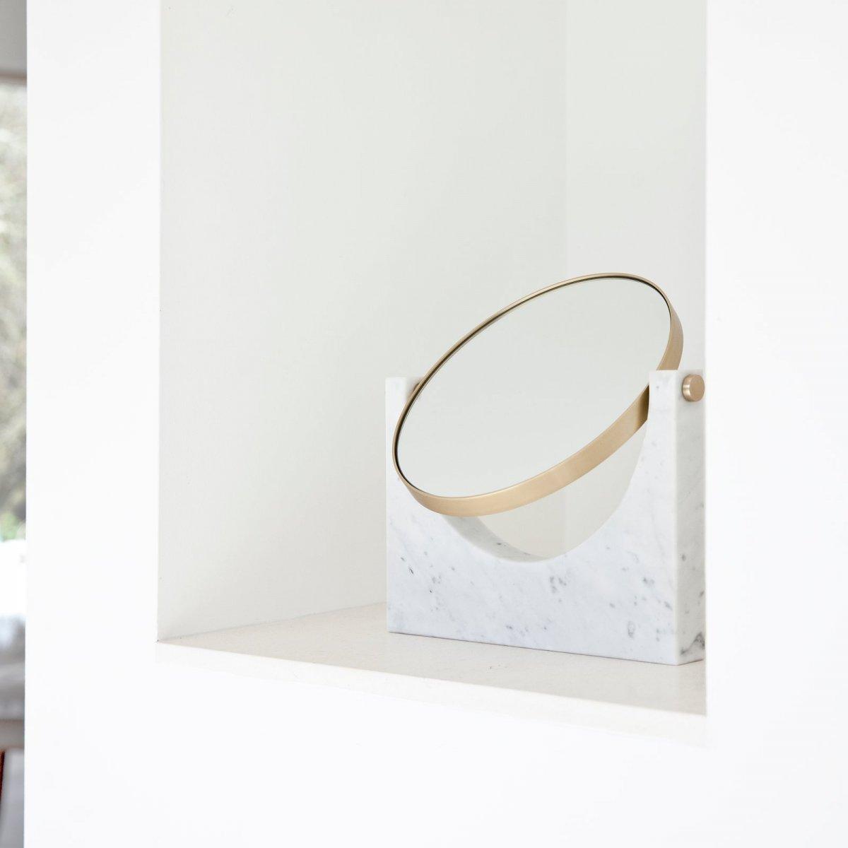 Pepe Marble Mirror, white.