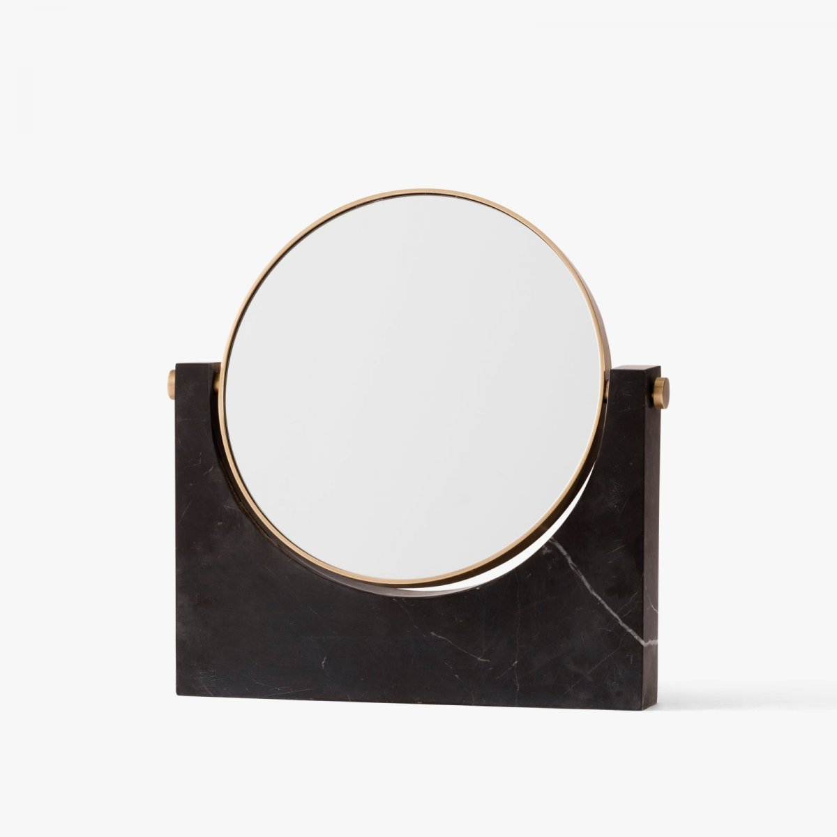 Pepe Marble Mirror, black.