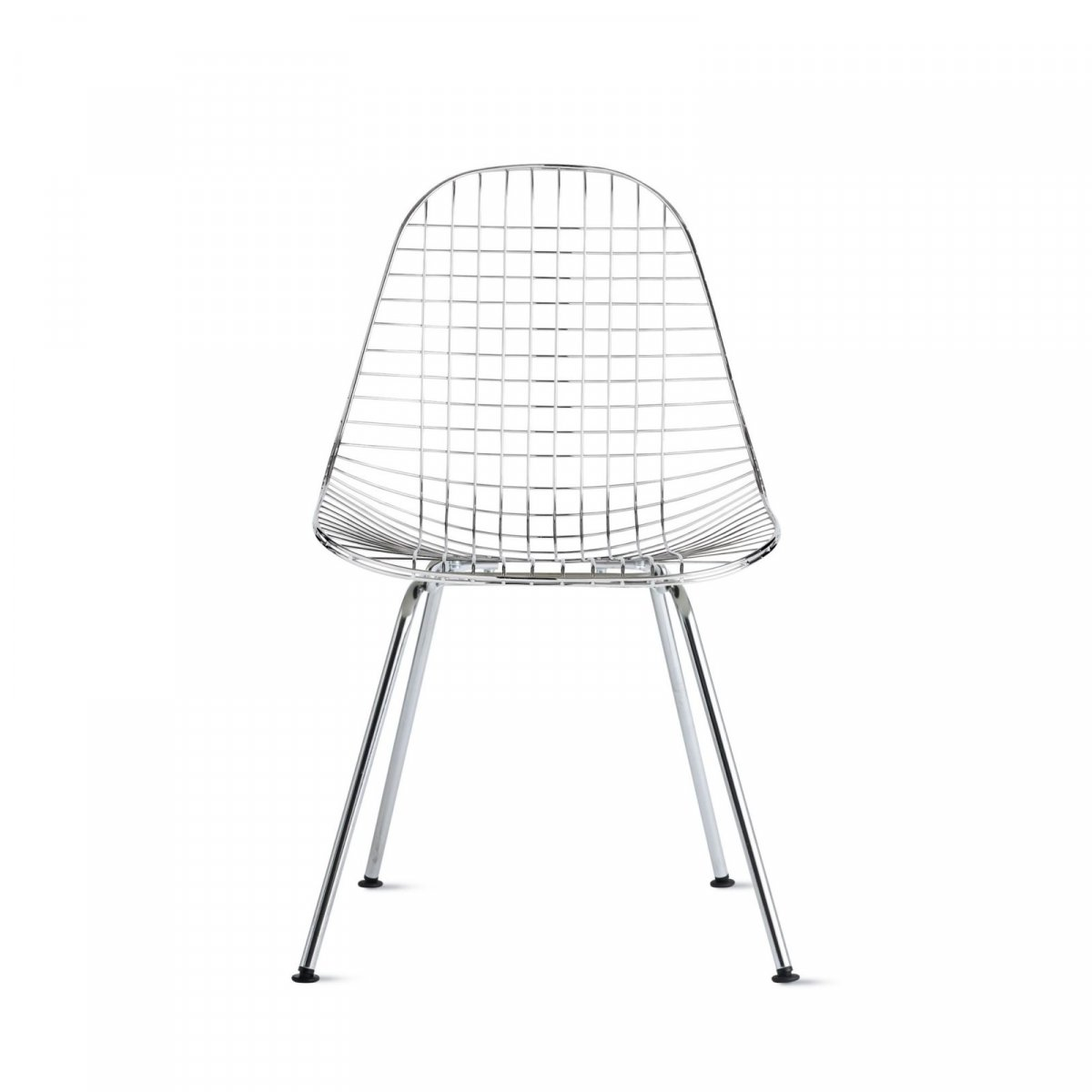 Wire Chair 4-Leg Base, trivalent chrome.