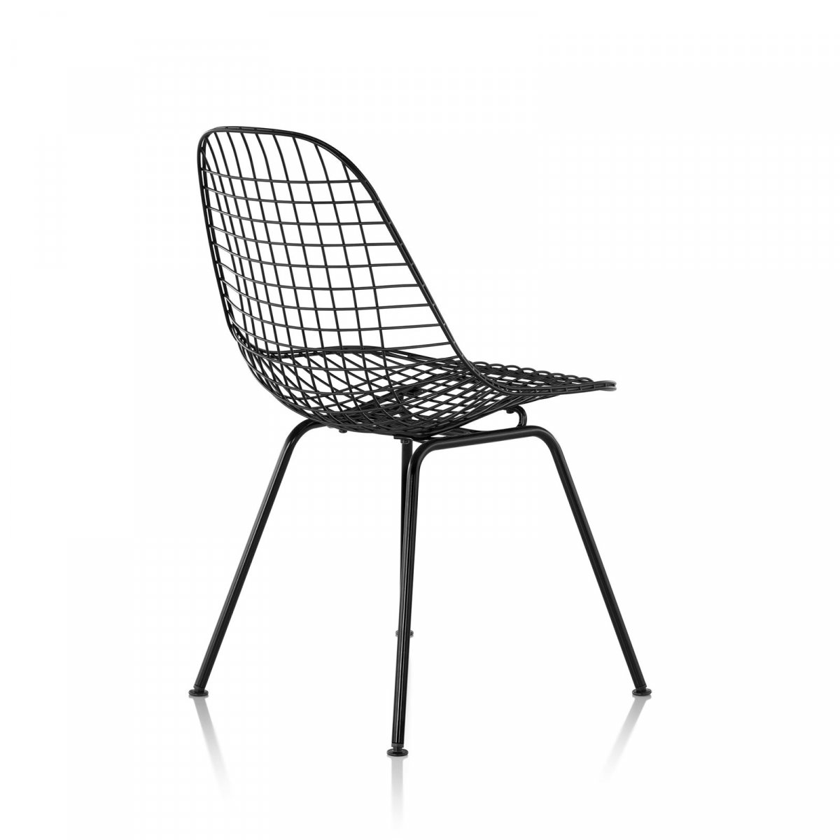 Wire Chair 4-Leg Base, black.