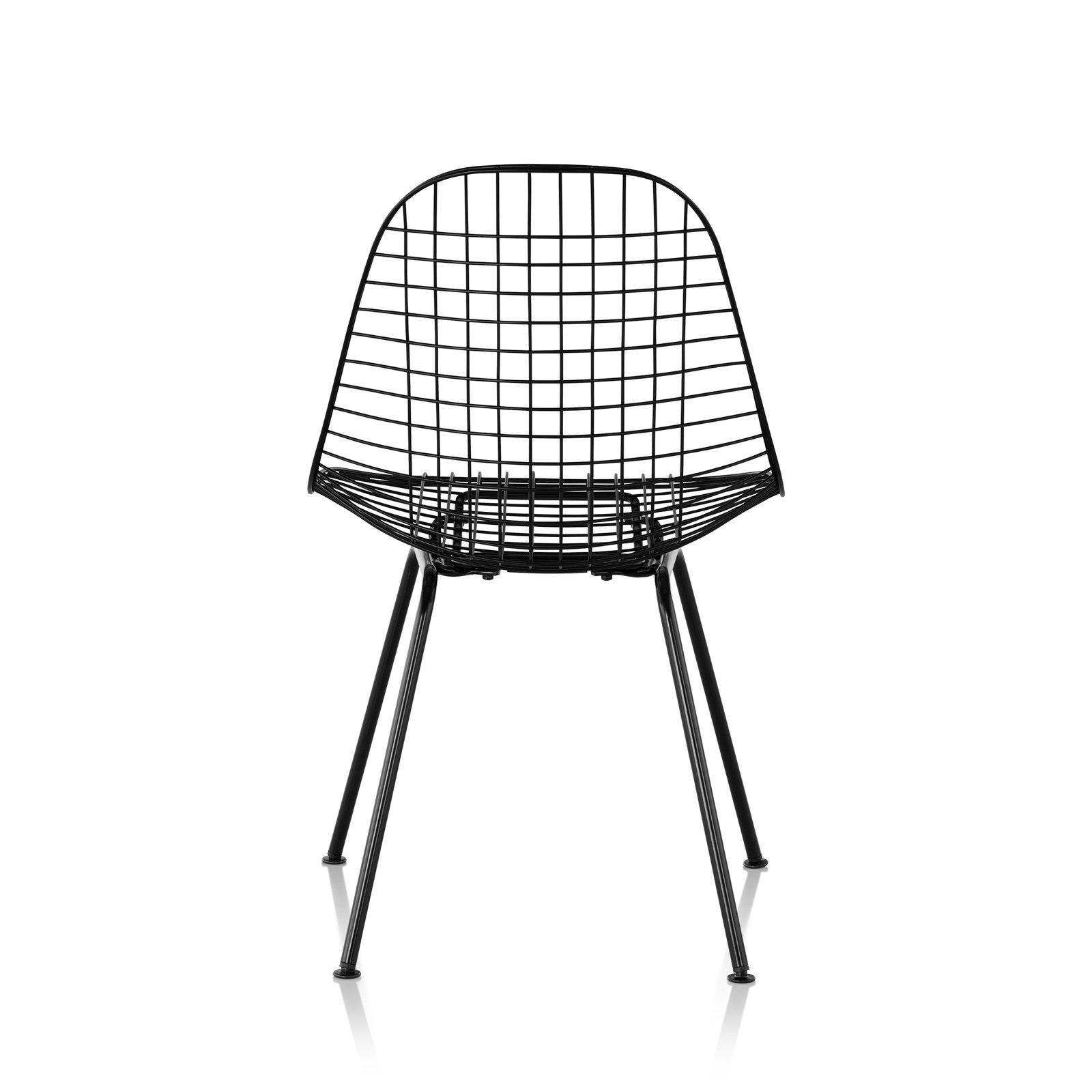 Wire Chair 4 Leg Base Black Back View