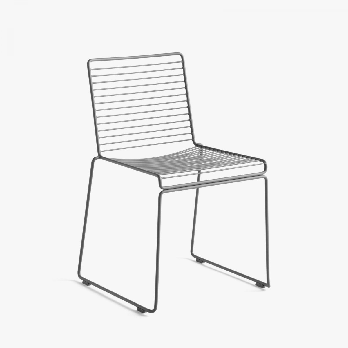Hee Dining Chair, asphalt gray.