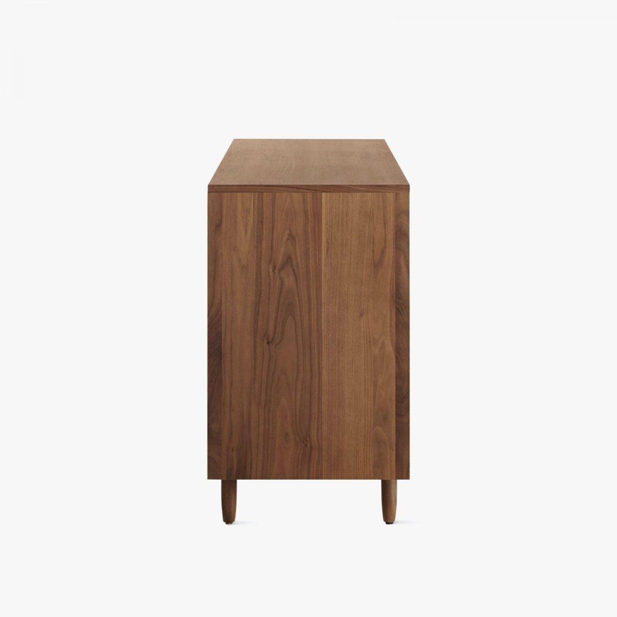 Raleigh Wide Dresser, walnut, side view.