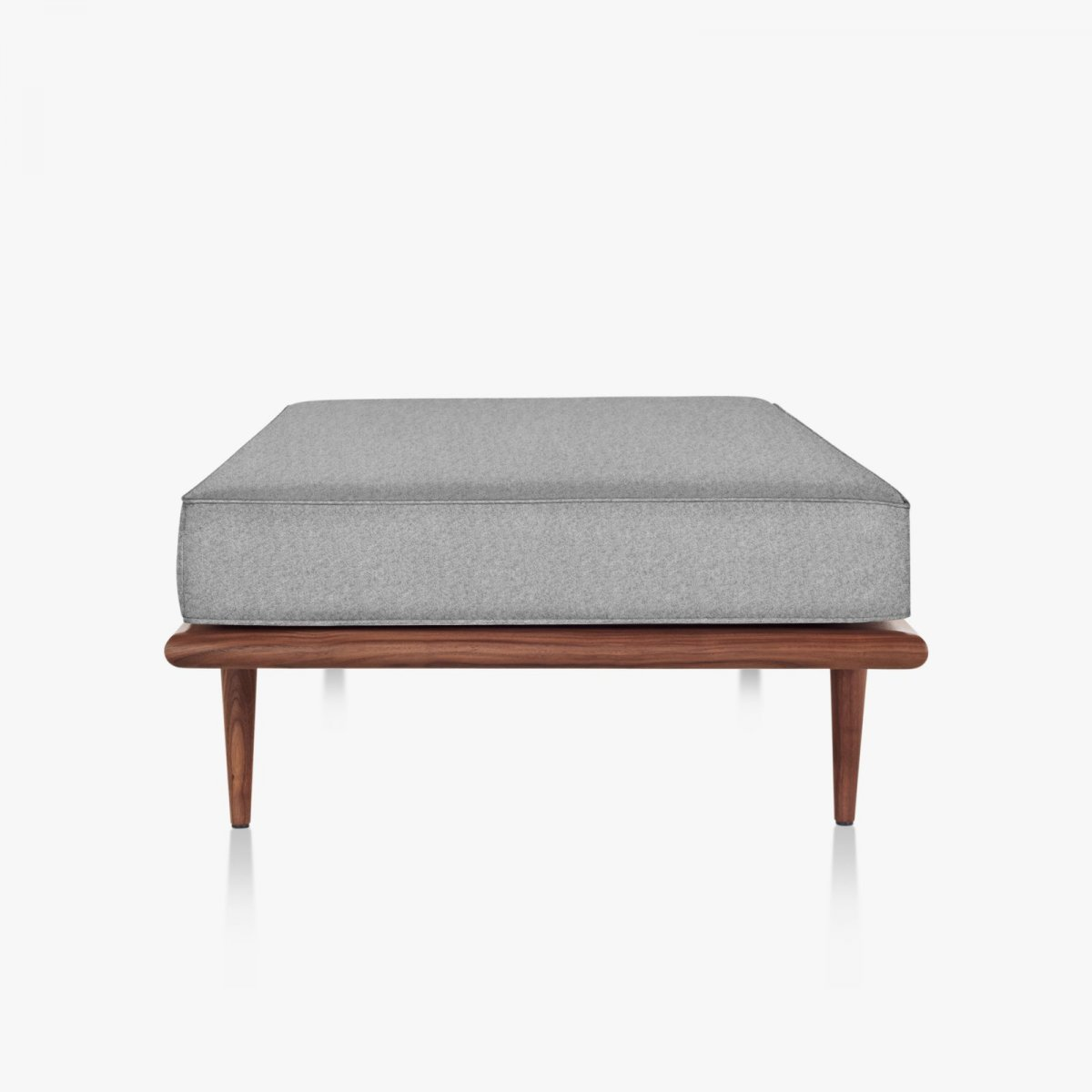 Nelson Daybed with wood taper legs, side view.
