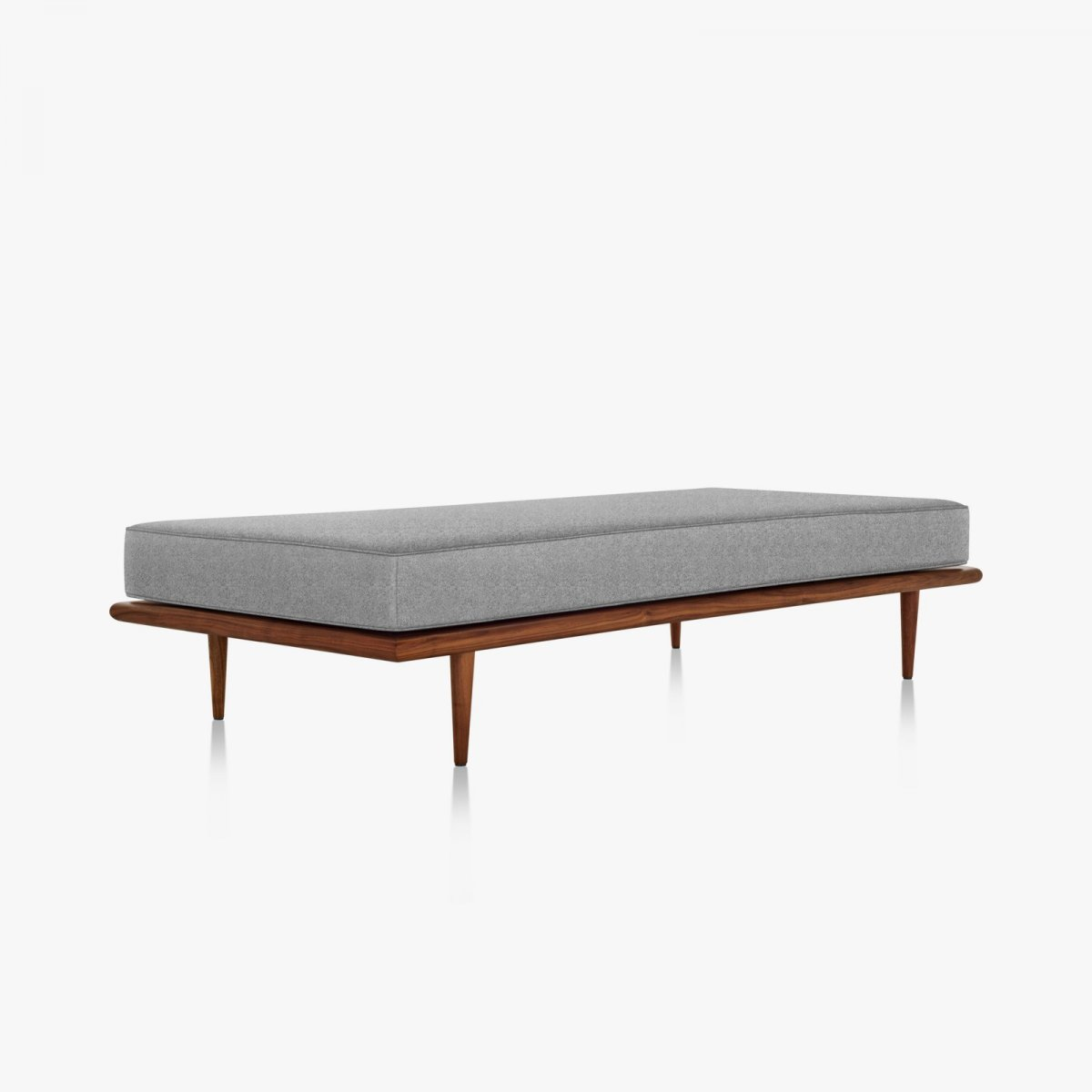 Nelson Daybed with wood taper legs.