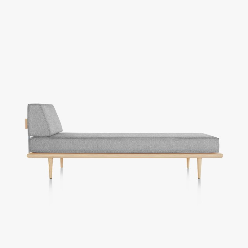 Nelson Daybed, Side Bolster and Wood Taper Legs