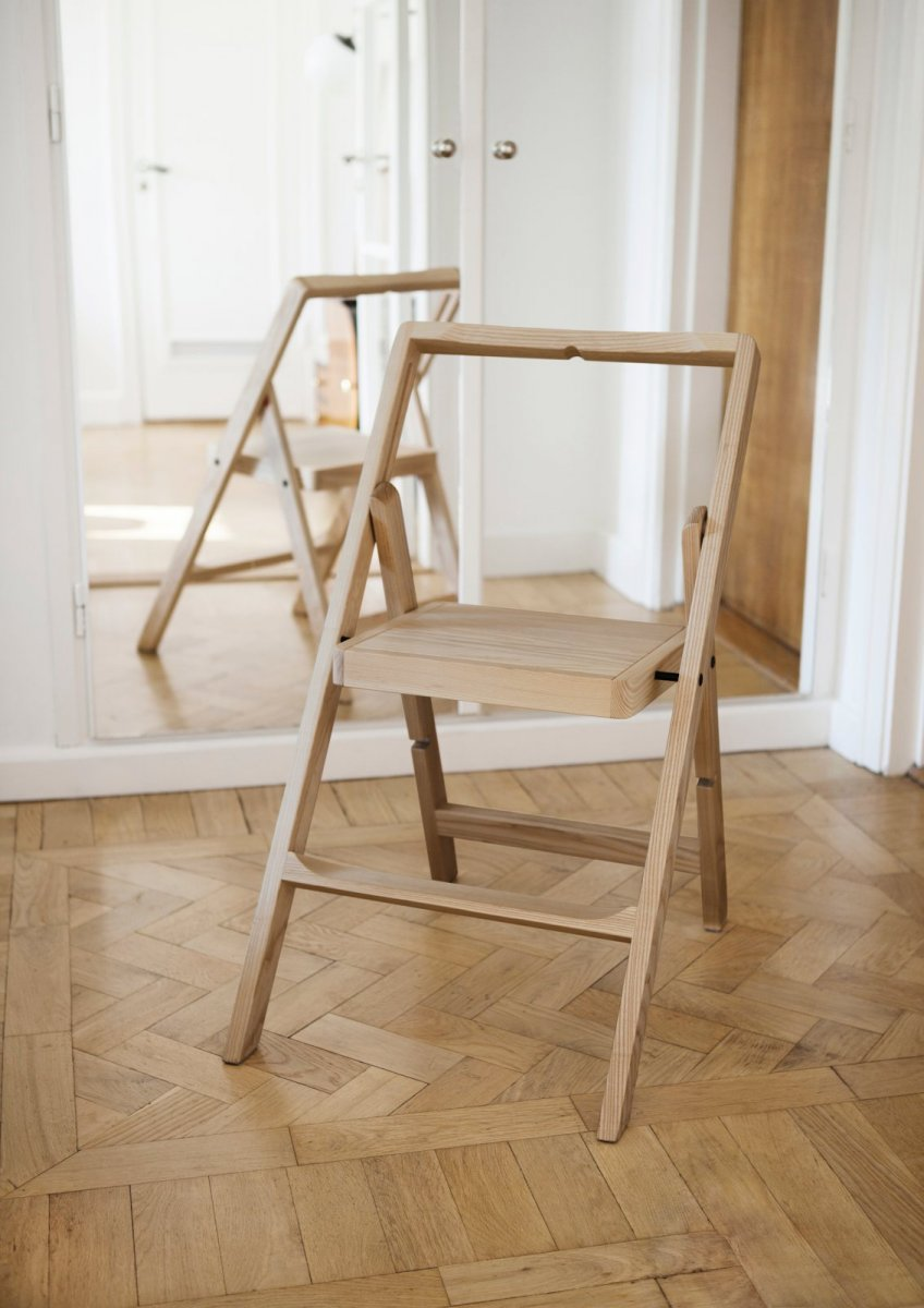 Step Mini step stool, oak.
