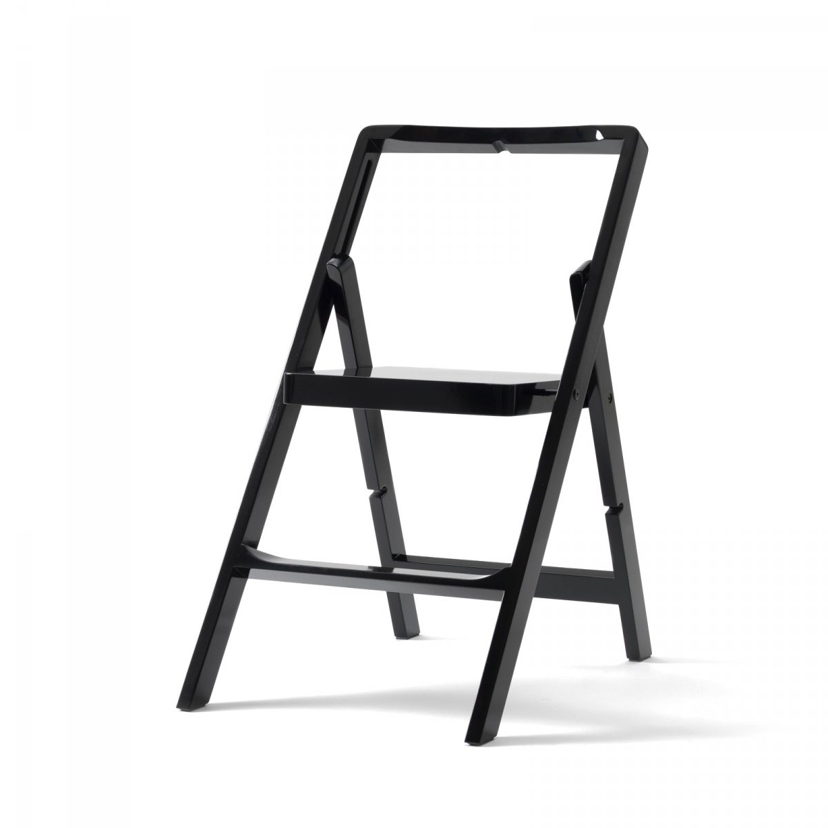 Step Mini step stool, black.