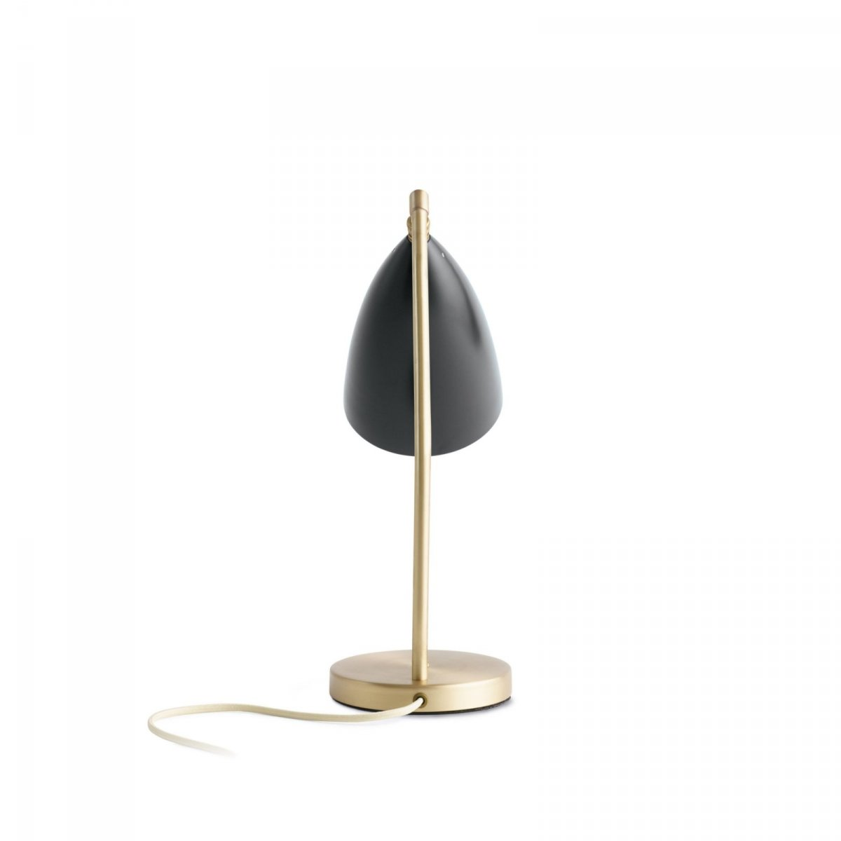 Grossman Gräshoppa Task Table Lamp, jet black, back view.