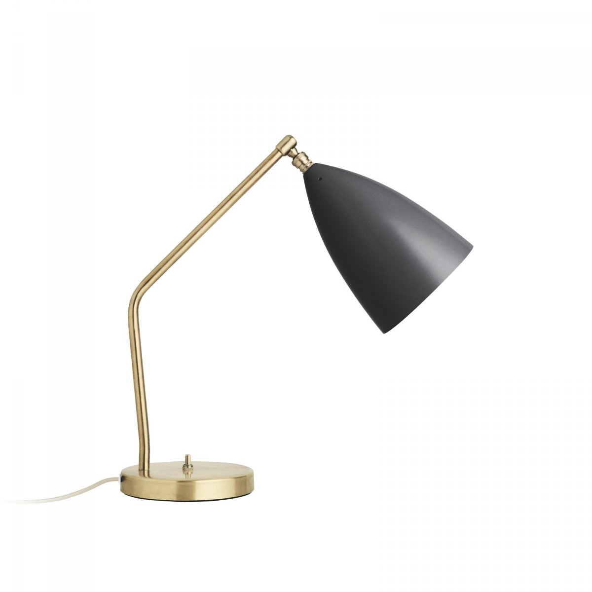 Grossman Gräshoppa Task Table Lamp, jet black, side view.