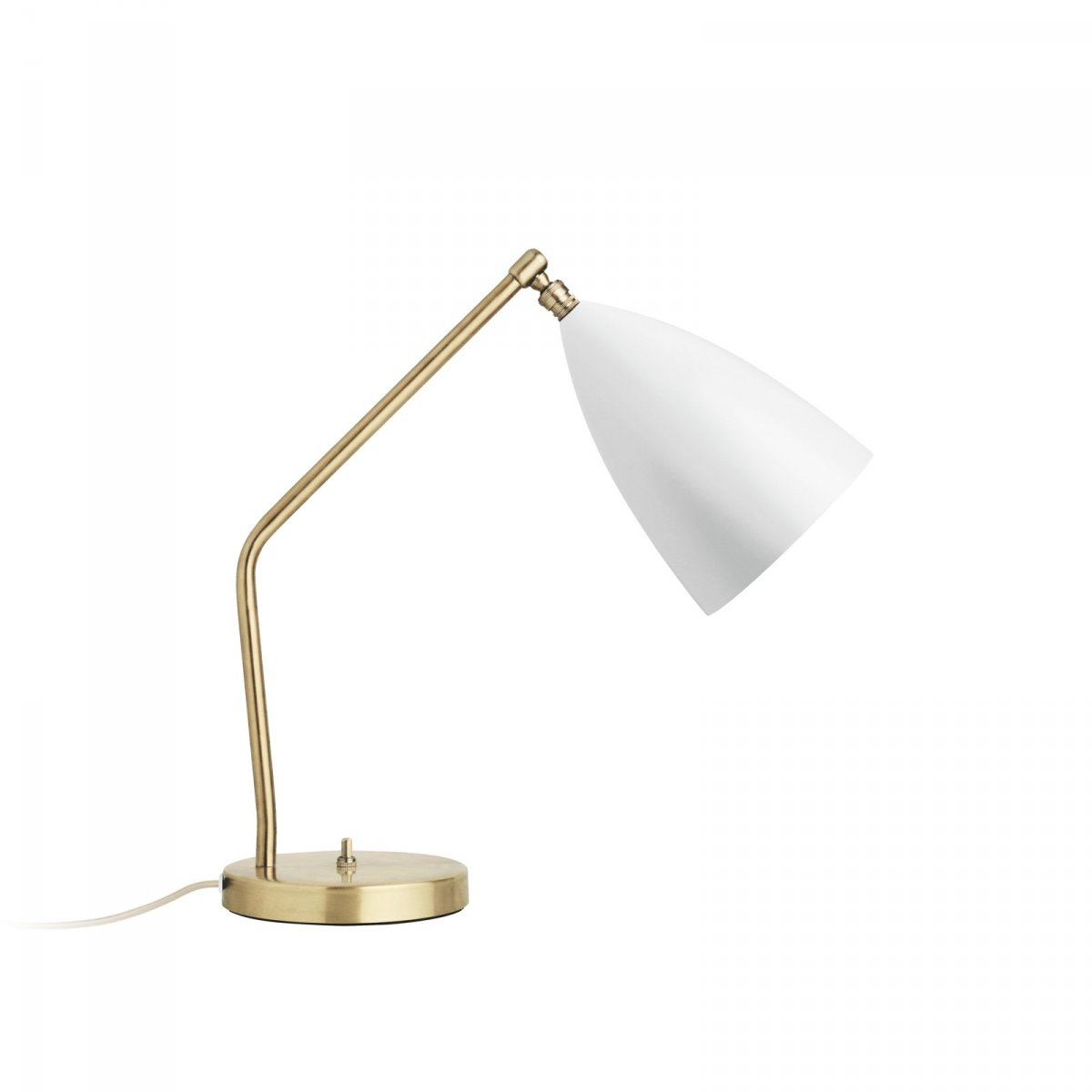 Grossman Gräshoppa Task Table Lamp, matt white.