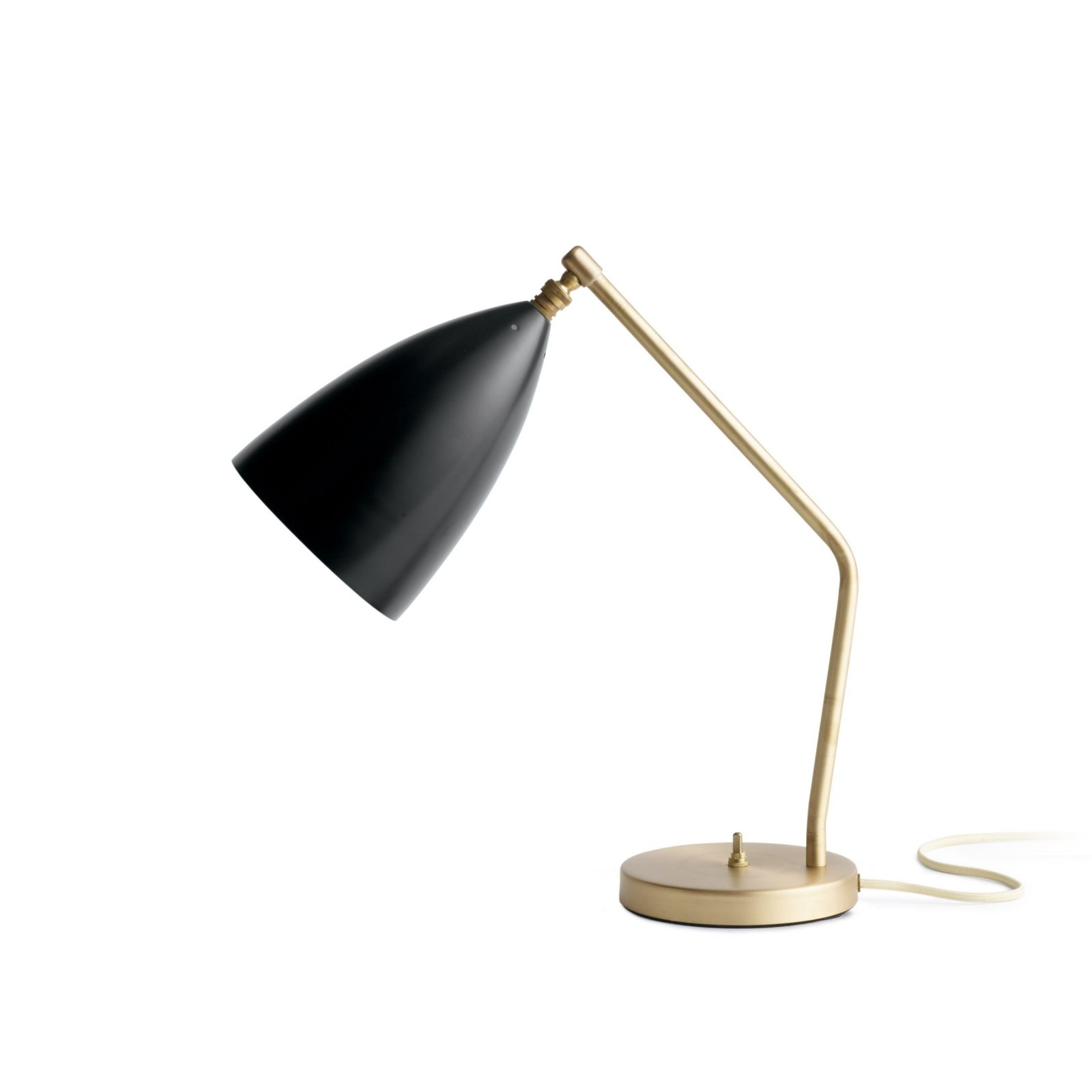 grossman lighting. Grossman Gräshoppa Task Table Lamp, Jet Black, Side View. Lighting