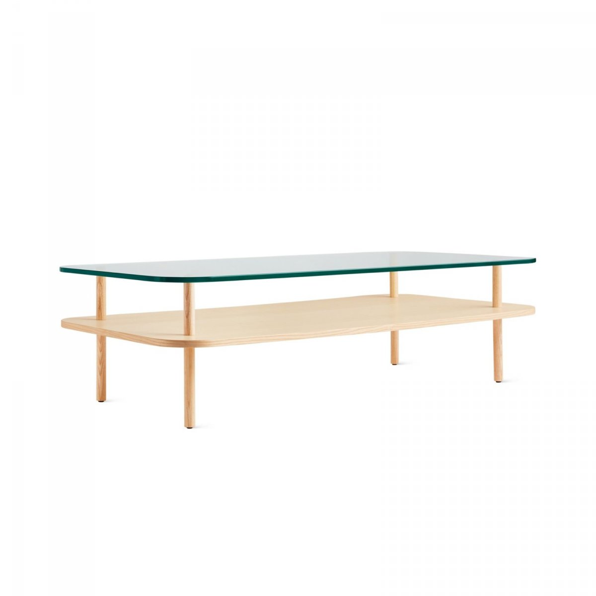 Unison Rectangular Coffee Table, ash.