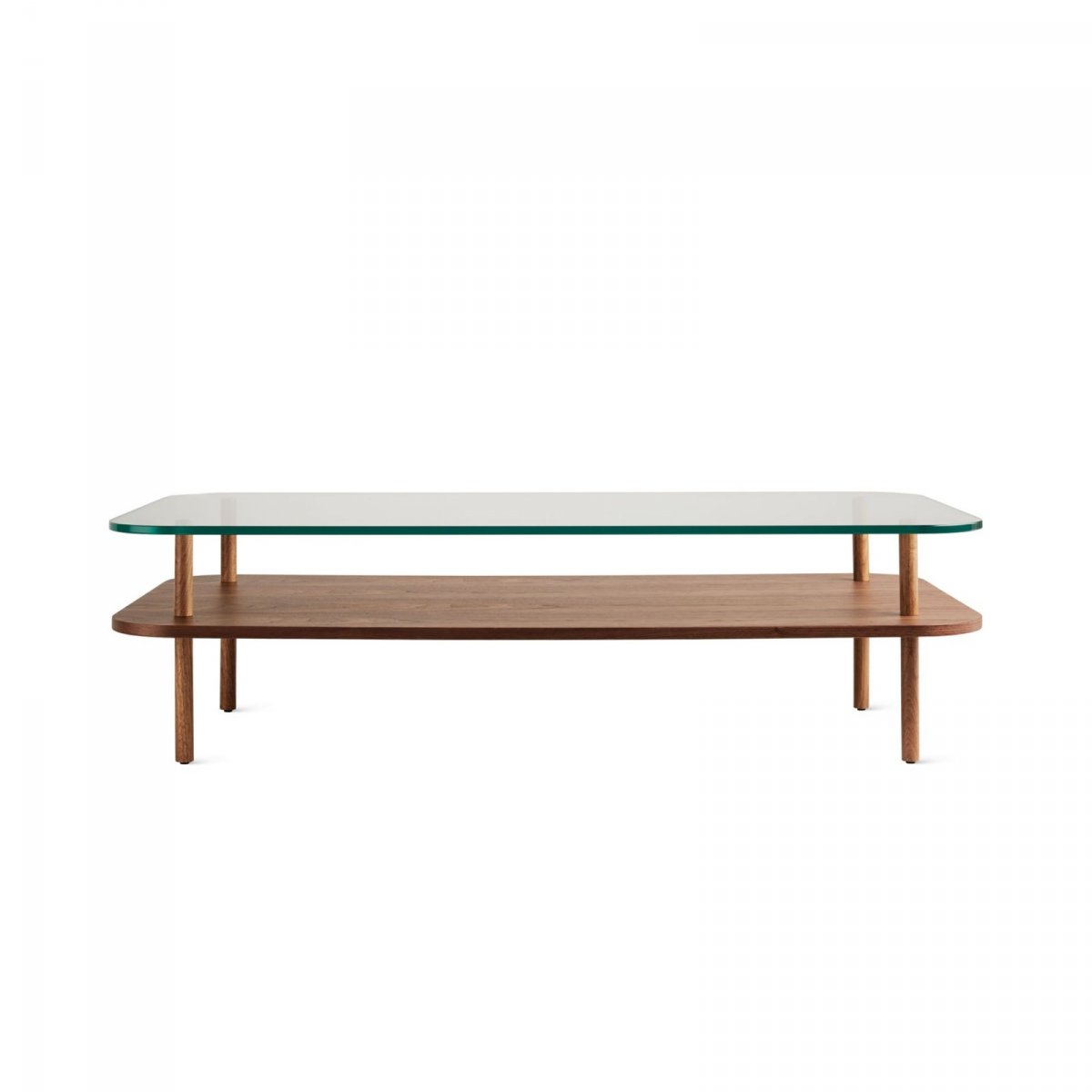 Unison Rectangular Coffee Table, walnut.