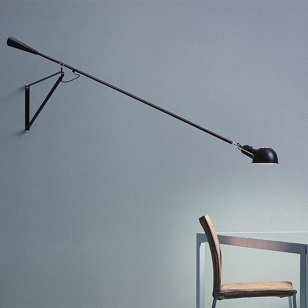 265 wall lamp, black.