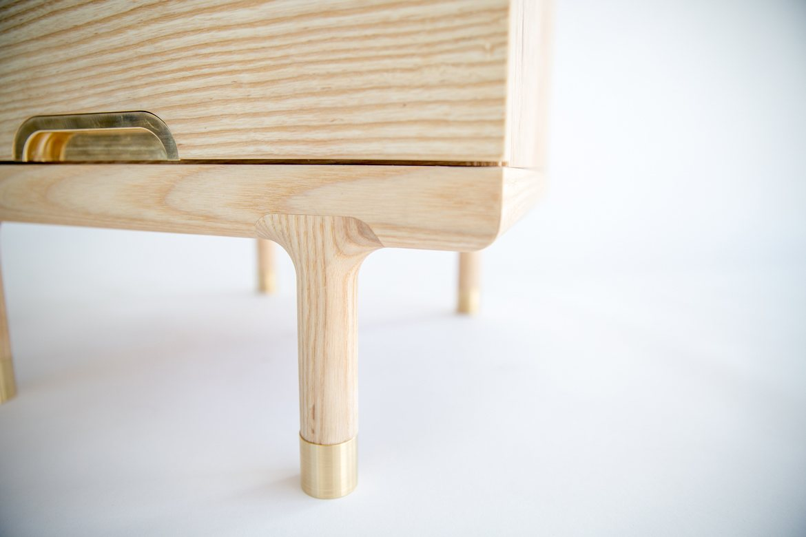 Simple Side Table, leg detail.