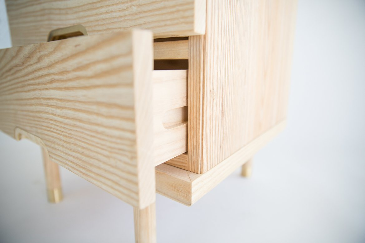 Simple Side Table, drawer detail.