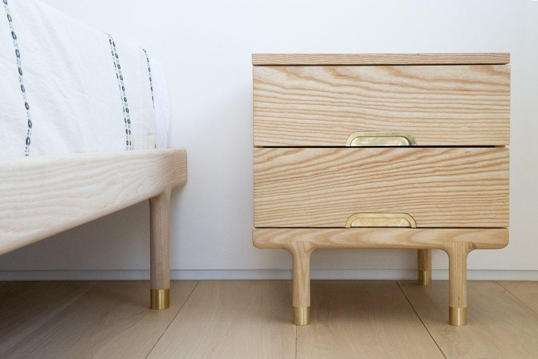 Simple Side Table Ideas: Simple Side Table Kalon Studio Interior Make Wooden Narrow