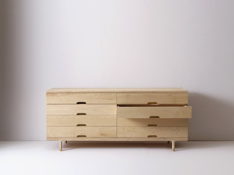 Simple Dresser, drawer opened.