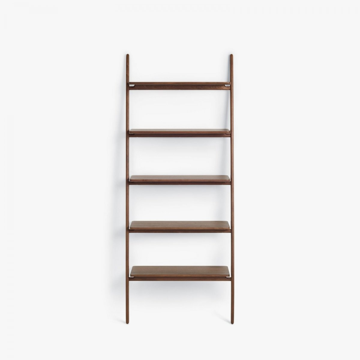 Folk Ladder Shelving, walnut.