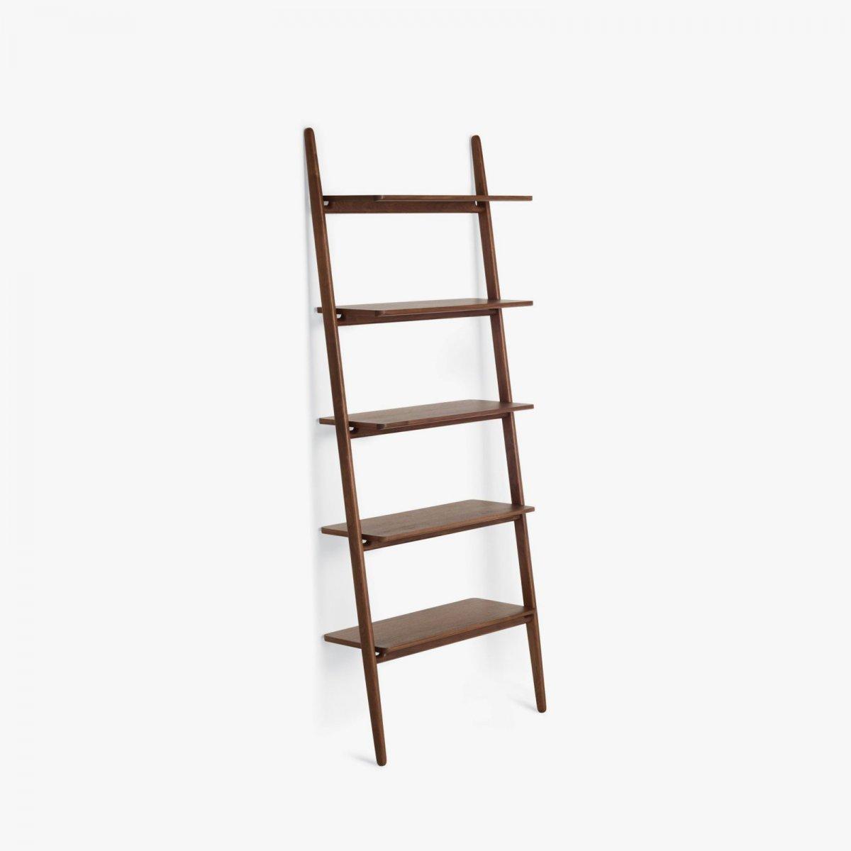 Folk Ladder Shelving, walnut.