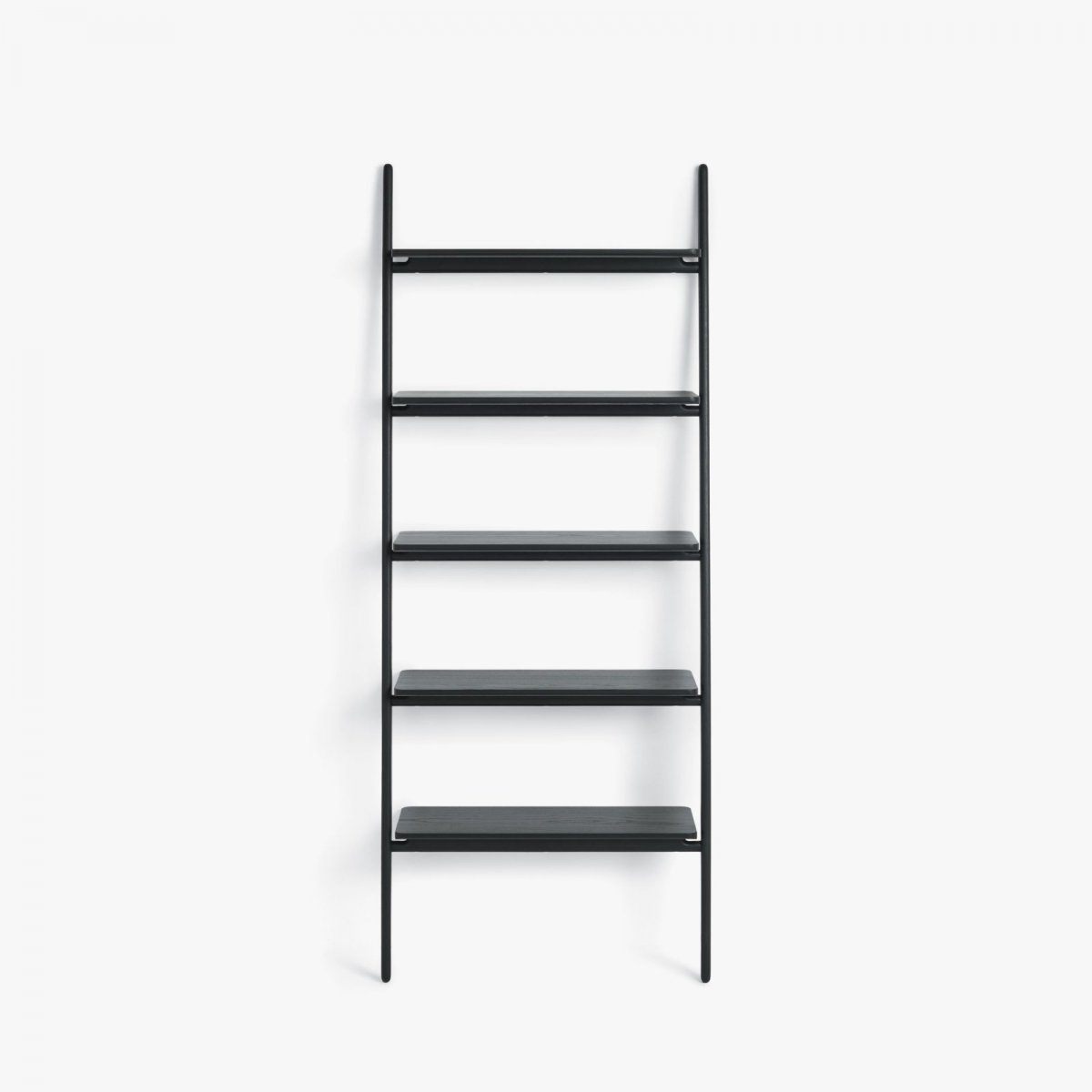 Folk Ladder Shelving, black.