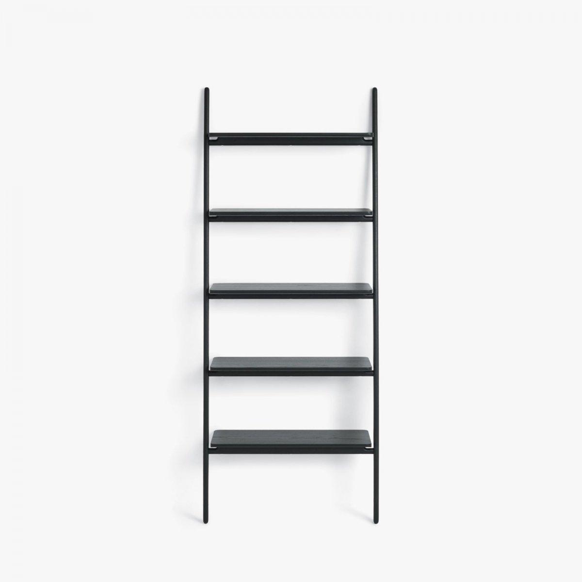 Folk Ladder Shelving, black.