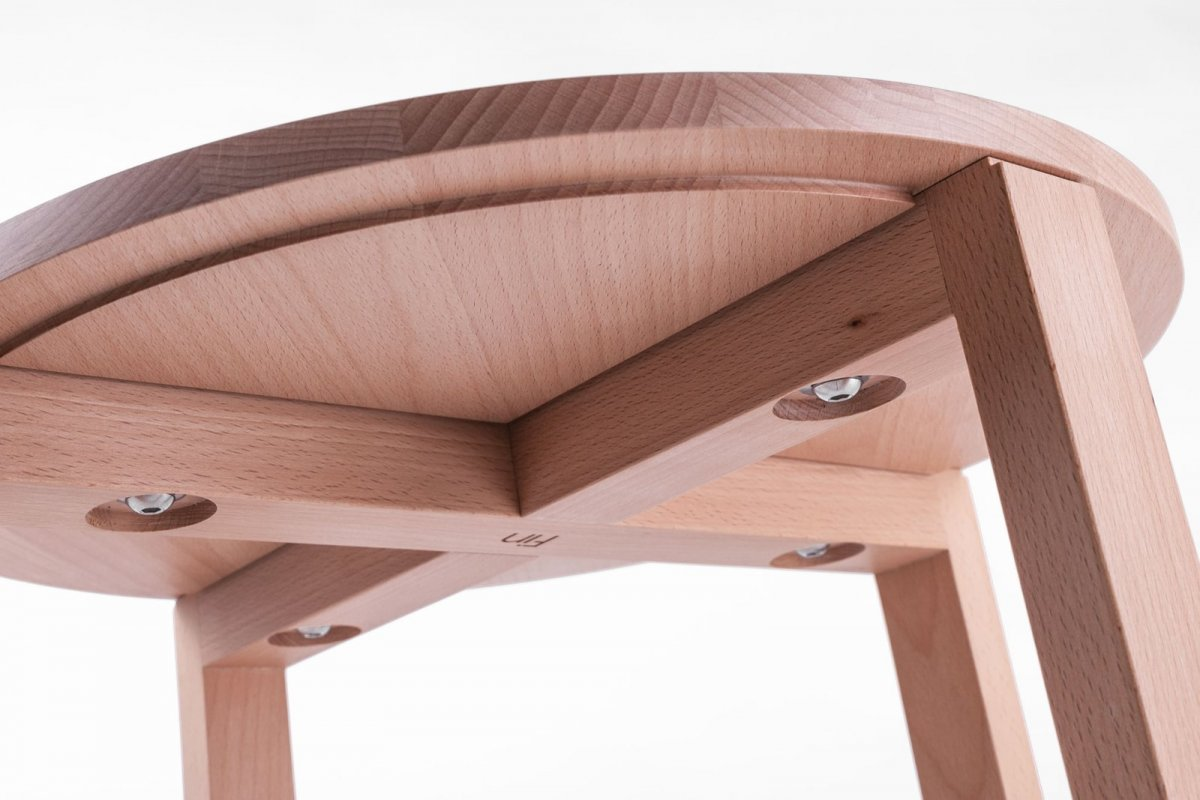 ST1 Side Table, ash, detail.