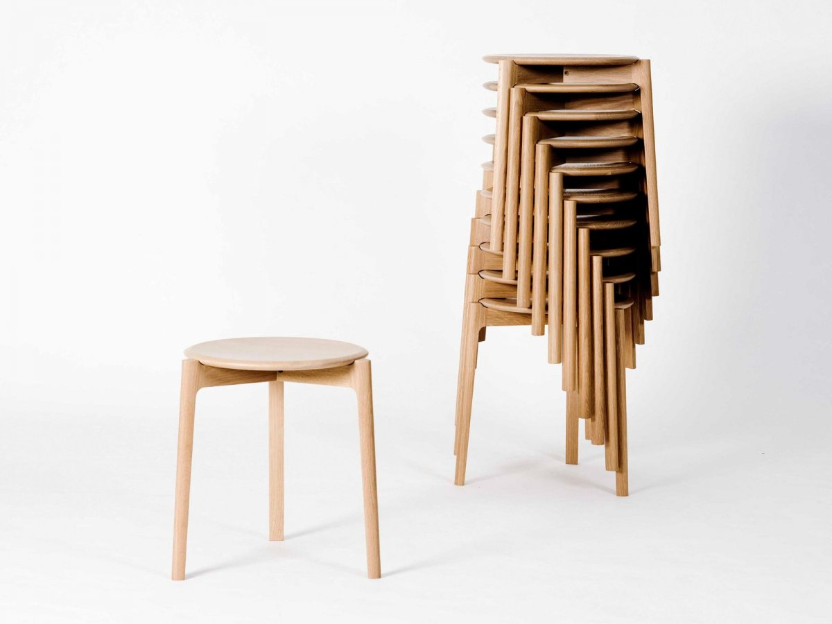 Svelto Round Stacking Stool, stacked.