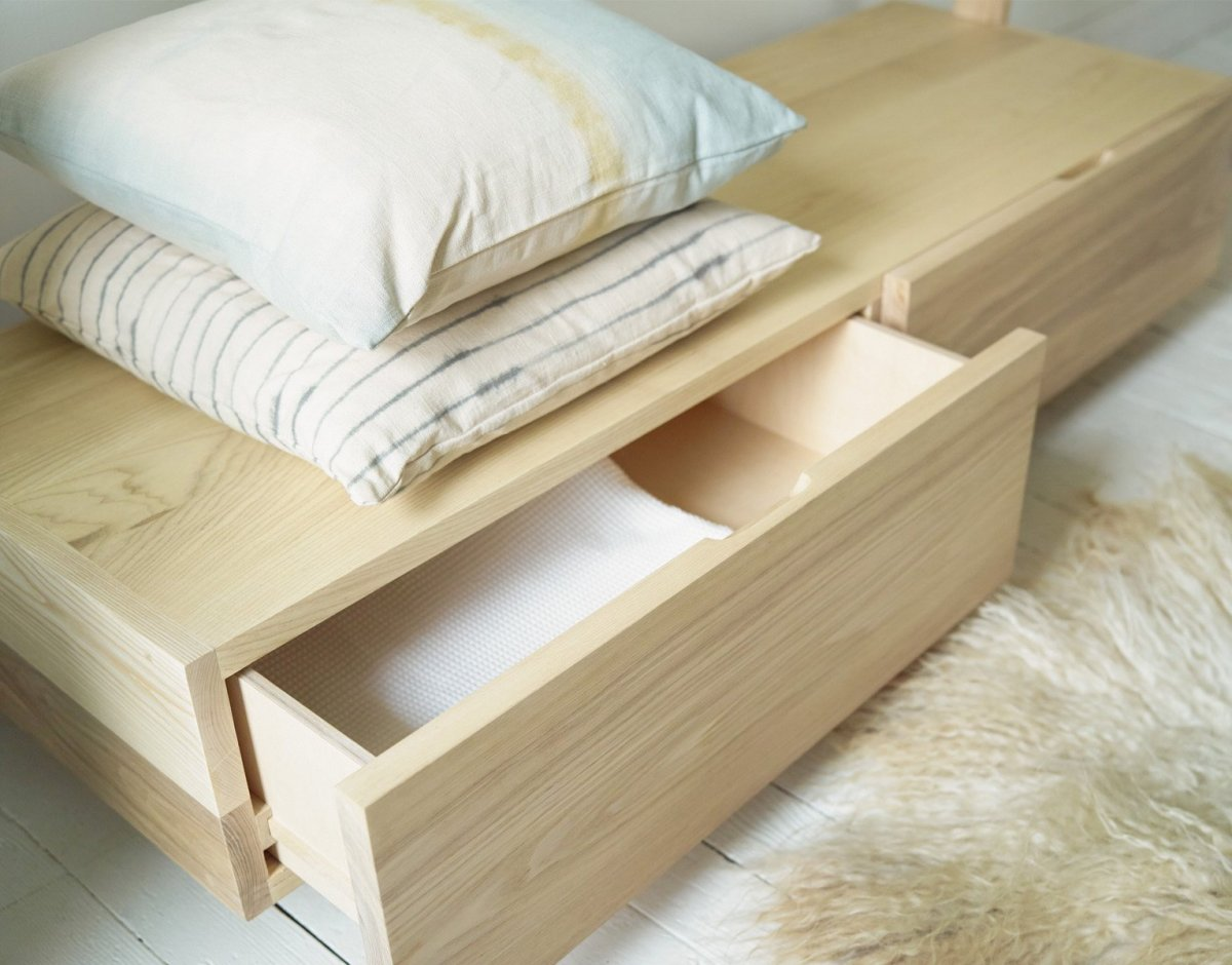 Ash Dressing Rack, drawer opened.