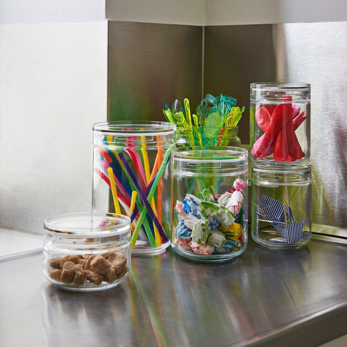 Japanese Glass Jars.