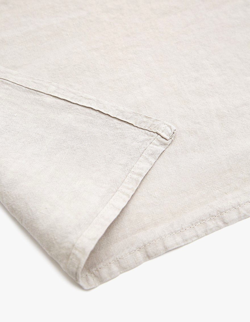 Simple Linen Placemat, light gray.