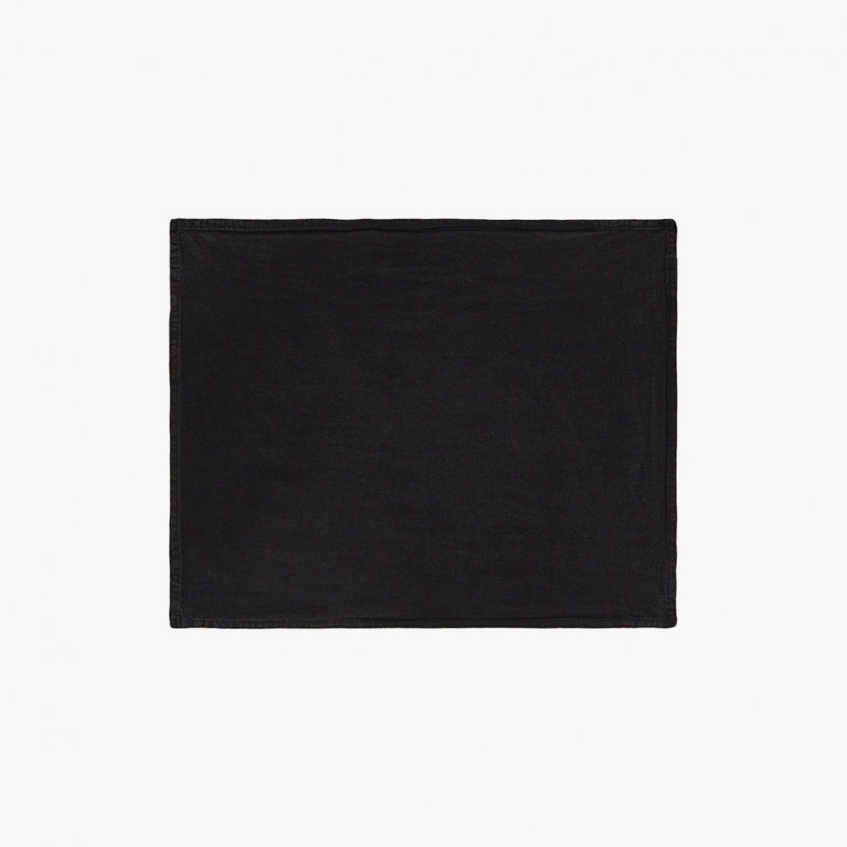 Simple Linen Placemat, black.