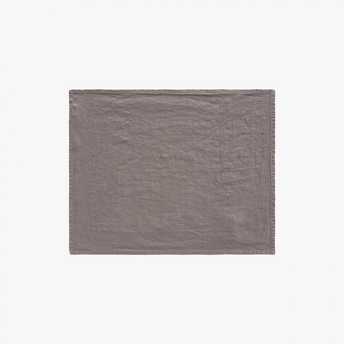 Simple Linen Placemat, dark gray.