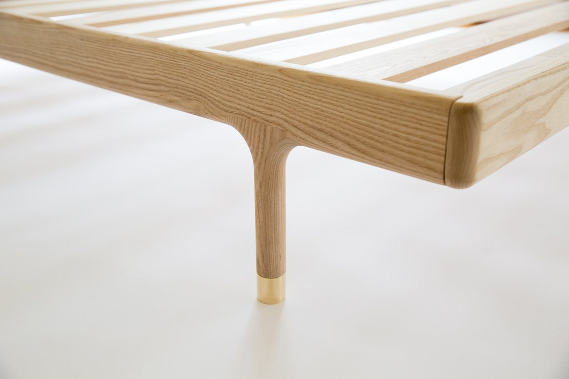 Simple Bed ash, leg detail.