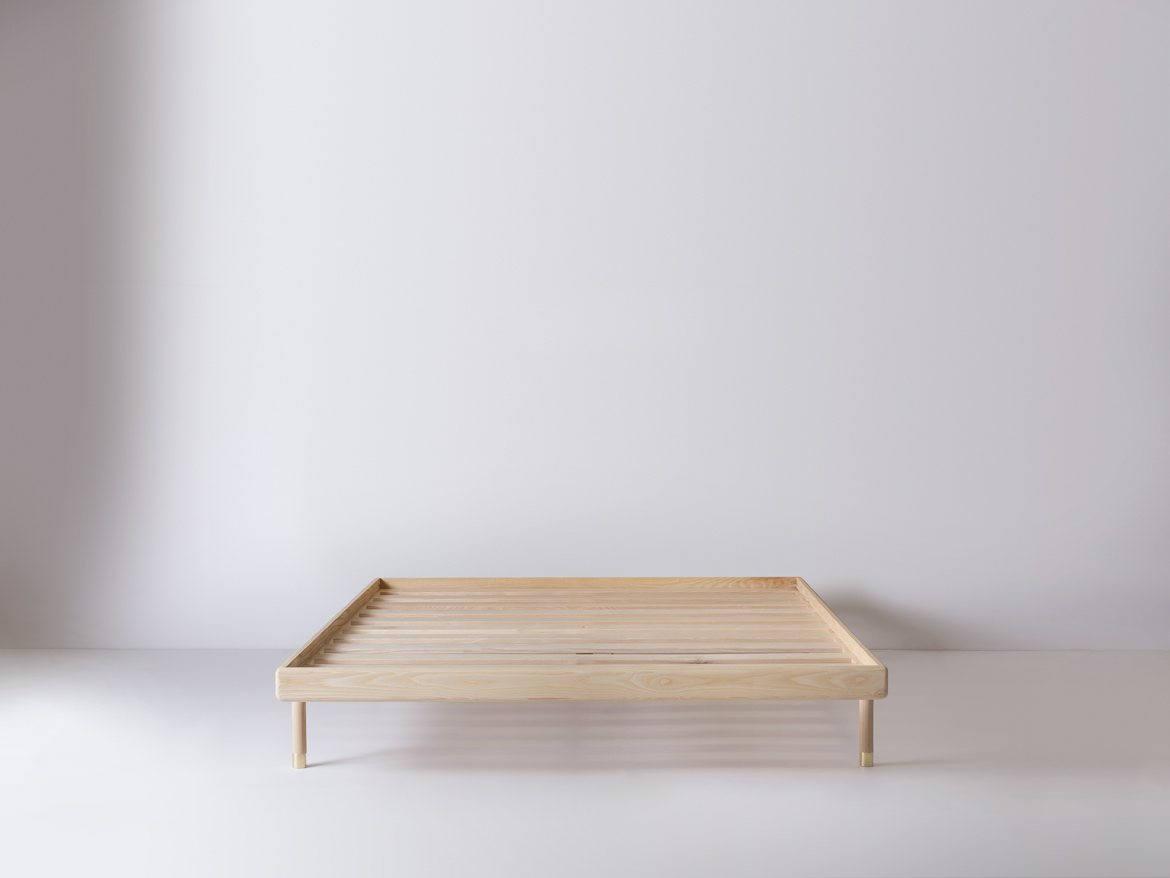Simple Bed ash without headboard.