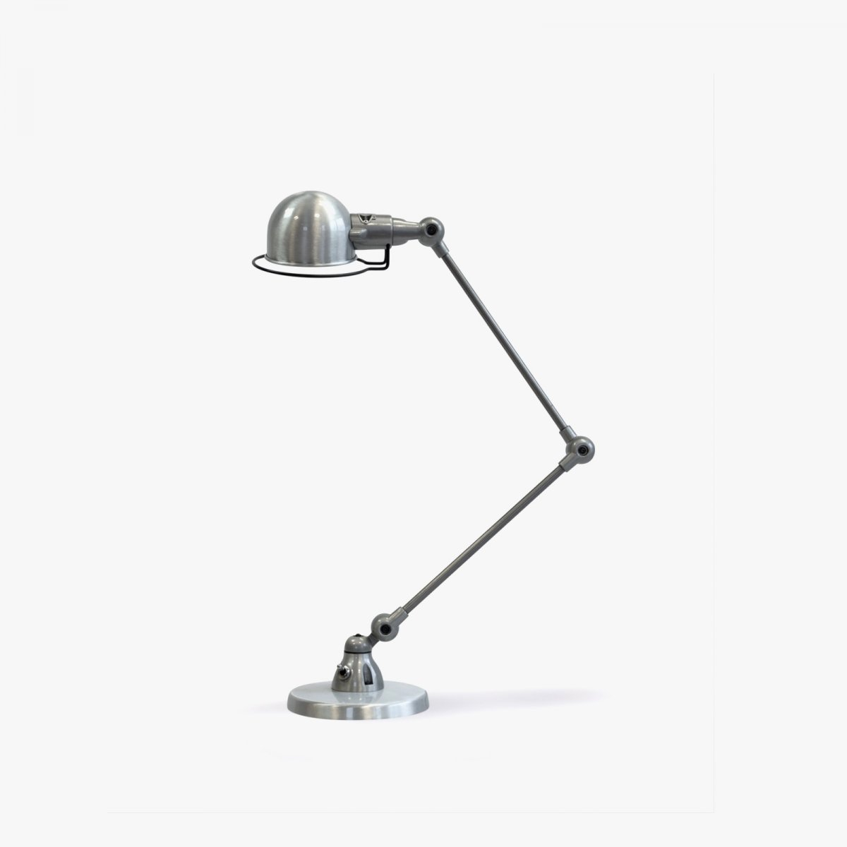 Jieldé Signal SI333 Desk Lamp, brushed steel.
