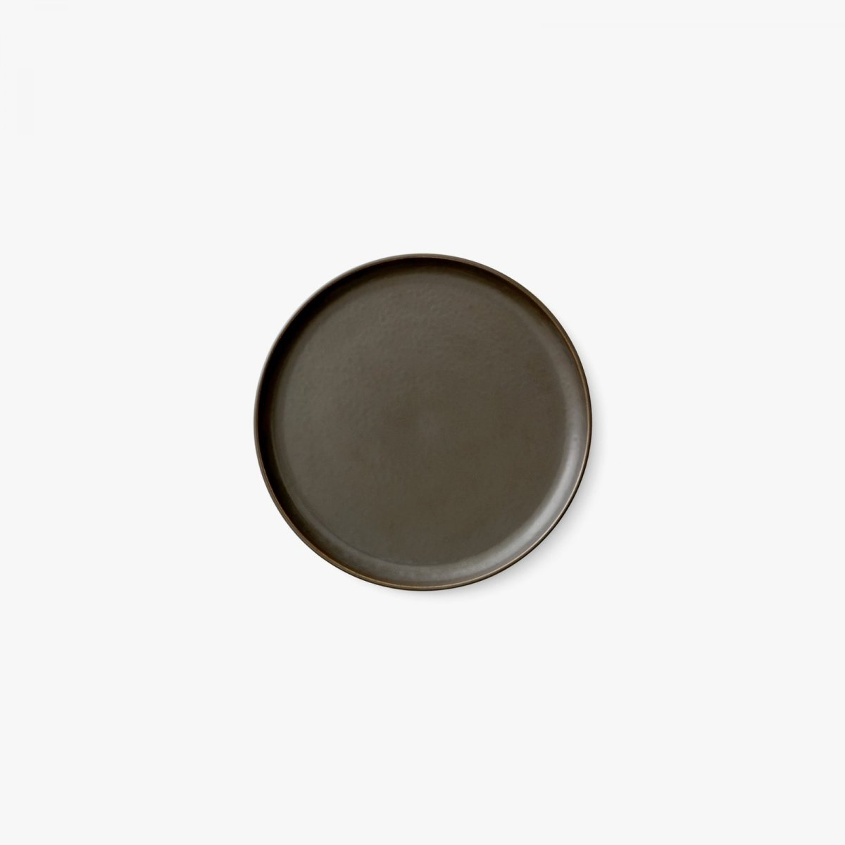 New Norm Lunch Plate, Ø 23 cm, dark glazed.